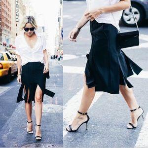 {Tibi} Virgin Wool Blend Cuarteto Carwash Skirt